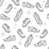 Boots doodle pattern Royalty Free Stock Image