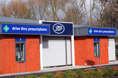 Boots drive through prescription store. Royalty Free Stock Photography