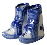 Boots(the Dutch style). Boots (the Dutch style) Objects with Clipping Paths Stock Photo