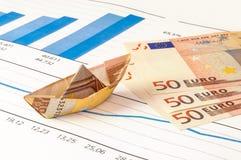 Boots-Eurogeld-Origami-Diagramm Lizenzfreie Stockfotografie