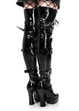 Boots in Gothic style royalty free stock image