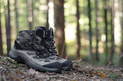 Boots hiker stand Royalty Free Stock Photography