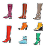 Boots icon set Royalty Free Stock Photography