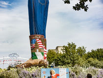 The boots and jeans of Big Tex Royalty Free Stock Images