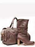 Boots and leather bag Stock Photo