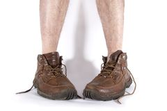 Boots and legs Royalty Free Stock Photos