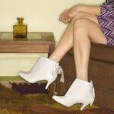 boots legs s woman Στοκ Φωτογραφίες