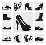 Boots men and women royalty free illustration