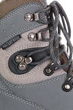 Boots for mountain hikes with reinforced soles and membrane Stock Photo