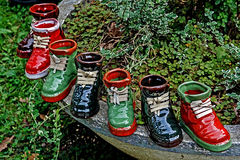 Boots ornamental from ceramics Royalty Free Stock Image