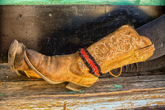 Boots!. A pair of Western Boots that belong to a Young Lady Stock Photography