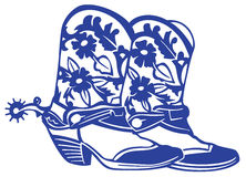 Boots with pattern Stock Image