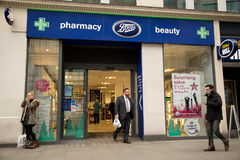 Boots pharmacy Royalty Free Stock Images