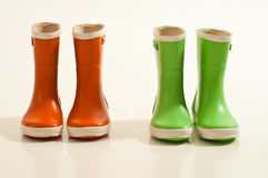 Boots in photo studio. Kids Boots in photo studio with white background Royalty Free Stock Photos