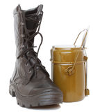 Boots and pot Royalty Free Stock Photo