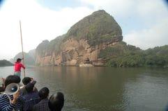 Boots-Reise-Berg Longhu, Yingtan, Jiangxi Stockbild