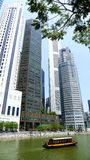Boots-Reiseflug-Singapur-Fluss Lizenzfreie Stockfotos