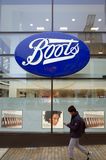 The Boots Retail Store and Pharmacy in Bracknell, England Royalty Free Stock Photo