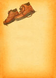 Boots on retro background #2 Royalty Free Stock Image