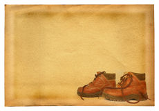 Boots on retro background Stock Images