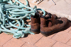 boots and  rope Stock Photos
