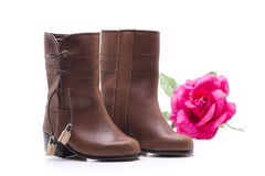 Boots and rose Royalty Free Stock Image