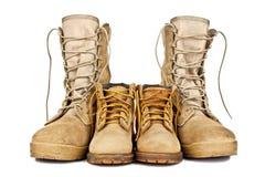 армия boots ботинки детей s Стоковая Фотография RF