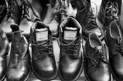 Boots for Sale Royalty Free Stock Photo