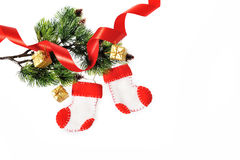 Boots Santa Claus, Christmas decoration Royalty Free Stock Photos