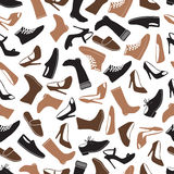 Boots and shoes color seamless pattern eps10 Stock Photo