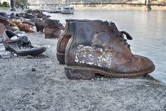Boots And Shoes Holocaust Memorial Royalty Free Stock Photography