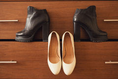 Boots and shoes Royalty Free Stock Images