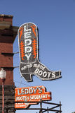 Boots Shop in Fort Worth Stockyards, TX, USA Royalty Free Stock Photo