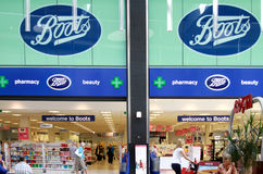 Boots shop in a mall Stock Photos