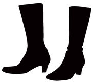 Boots silhouette. Vector file of boots silhouette stock illustration