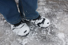 Boots in the snow Stock Photography