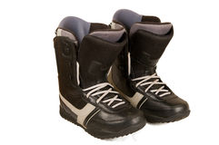 Boots for a snowboard. Royalty Free Stock Photos