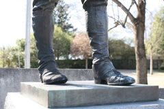 The Boots of a Solider Royalty Free Stock Image