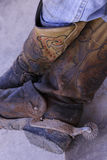 Boots with spur Stock Images