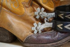 Boots and Spurs Stock Photography