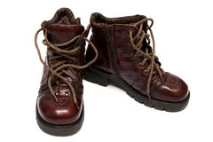 Boots on a thick sole Royalty Free Stock Photo