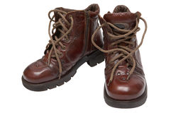 Boots on a thick sole Royalty Free Stock Photos