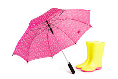 Boots and Umbrella Royalty Free Stock Photo