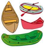 Boots- und Lieferungsansammlung Lizenzfreies Stockbild