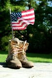 Boots with US flag Stock Photos