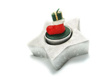 Boots of wax as Christmas ornament Royalty Free Stock Photos
