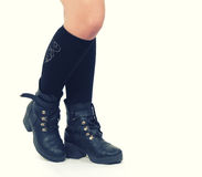 Boots on white Royalty Free Stock Images