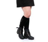 Boots on white Stock Photos