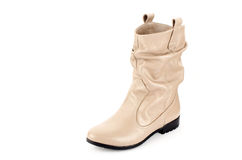 Boots. Women leather hand made Stock Photography