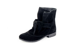 Boots. Women leather hand made Royalty Free Stock Photography